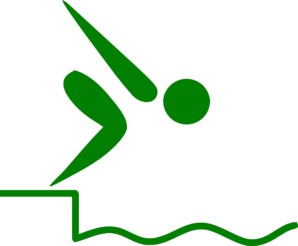 Swimmer Green Clip Art