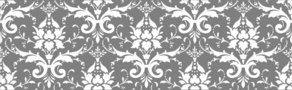 Damask White On Gray Clip Art