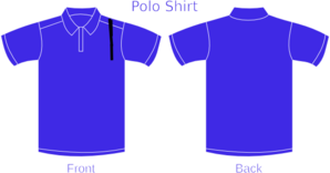 Blue Polo Shirt Front And Back Clip Art