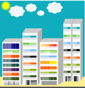Simple City Skyscraper Clip Art