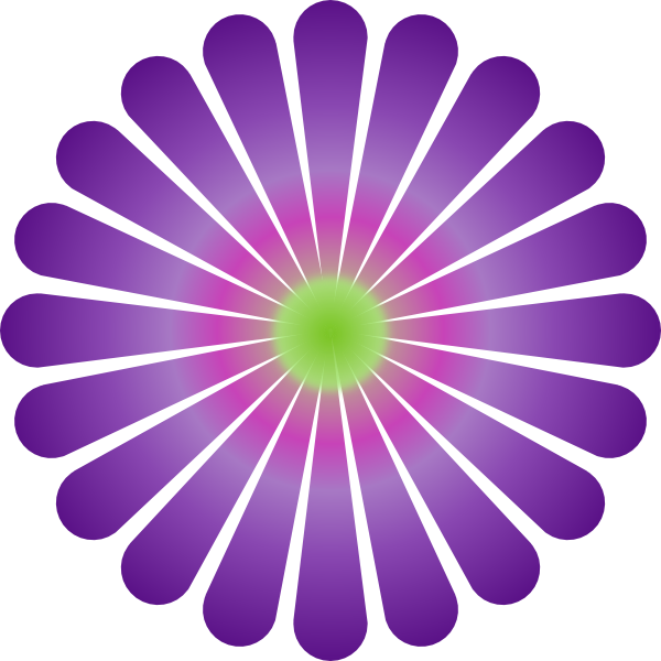 Purple Daisy Clip Art at Clker.com - vector clip art ...