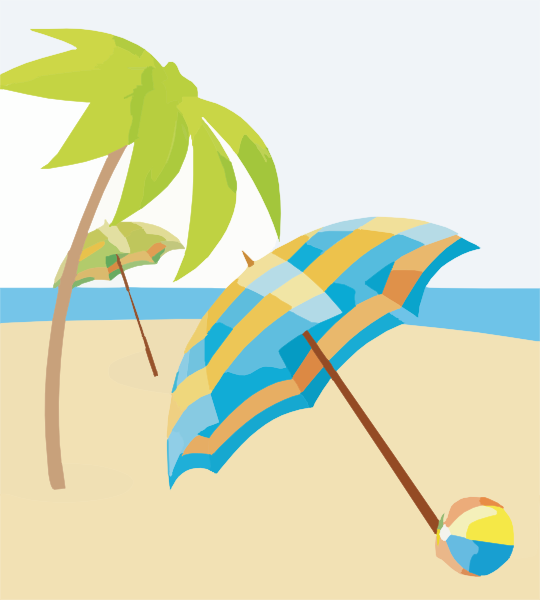 Sonnenschirm strand clipart  Summer Beach Wallpapers X Copy Clip Art at Clker.com - vector clip ...