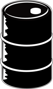 Oil Barrel Black Clip Art