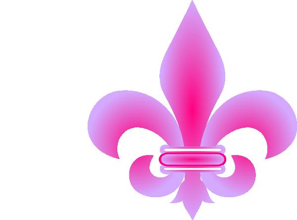 Pink Fleur De Lis Clip Art At Clker.com