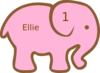 Personalized Birthday Elephant Clip Art