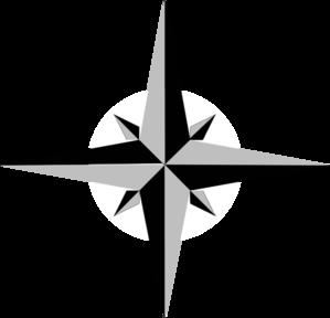 gray compass 1 clip art at clker com vector clip art online rh clker com north star clip art free 4 Point Star Clip Art
