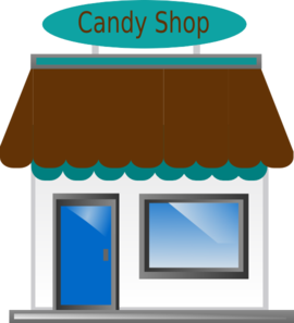 Candy Shop Front Clip Art