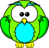 Lime Green Owl Clip Art