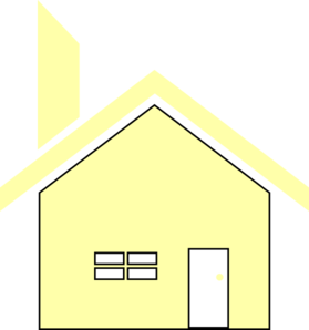 Yellow Simple House Clip Art