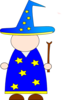 Blank Wizard Template Clip Art