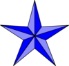 Blue Nautical Star Clip Art
