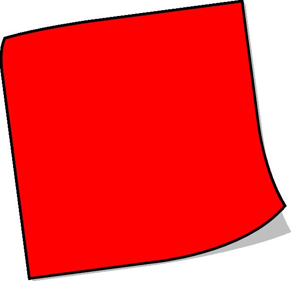Red Sticky Note Clip Art at Clker.com - vector clip art ...