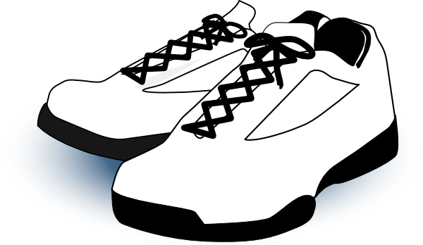 black and white tennis shoe clipart rh worldartsme com cartoon tennis shoes clipart Shoe Clip Art Black and White