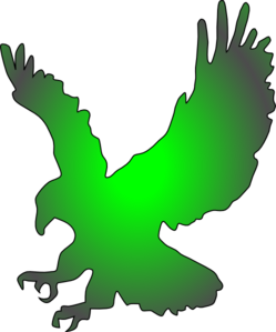 Green Eagle Clip Art