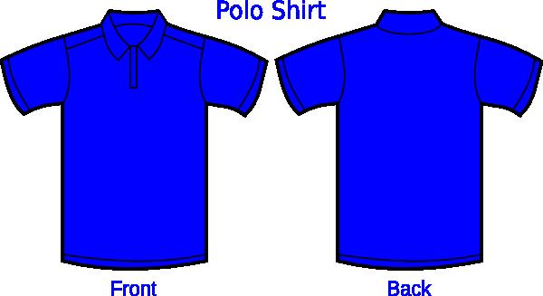 royal blue polo shirt clip art at clkercom vector clip