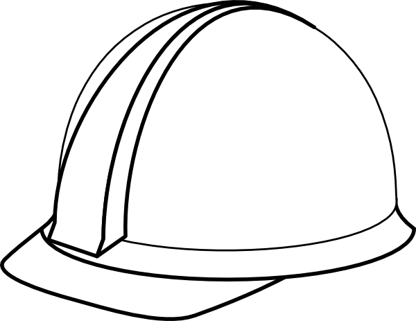 White Hard Hat No Shadow Clip Art at Clker.com - vector clip art ...