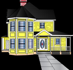 Little Yellow House Clip Art