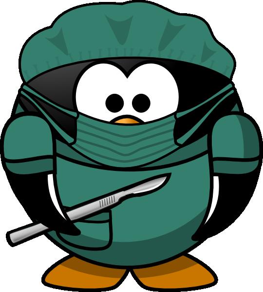 penguin surgeon clip art at clker com vector clip art online rh clker com surgery clip art surgery clip art free
