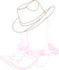 Cowgirl Hat And Boots Clip Art