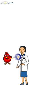 Doctor With Egg And Hen Clip Art