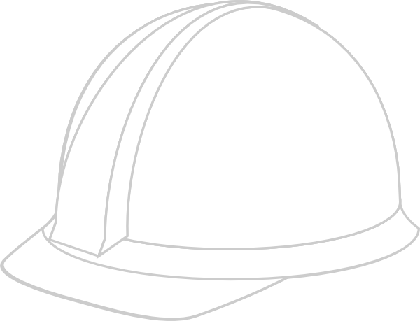 white hard hat clip art at clkercom vector clip art