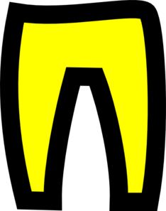 Yellow Trousers 2 Clip Art