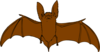 Brown Bat Clip Art