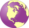 Purple Tinted Earth Clip Art