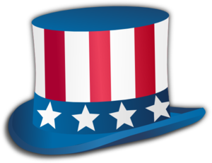Uncle Sam Fourth Of July Hat Clip Art