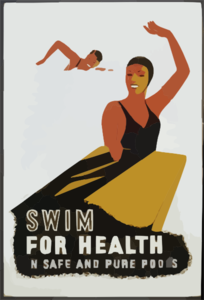 Swim For Health In Safe And Pure Pools Clip Art