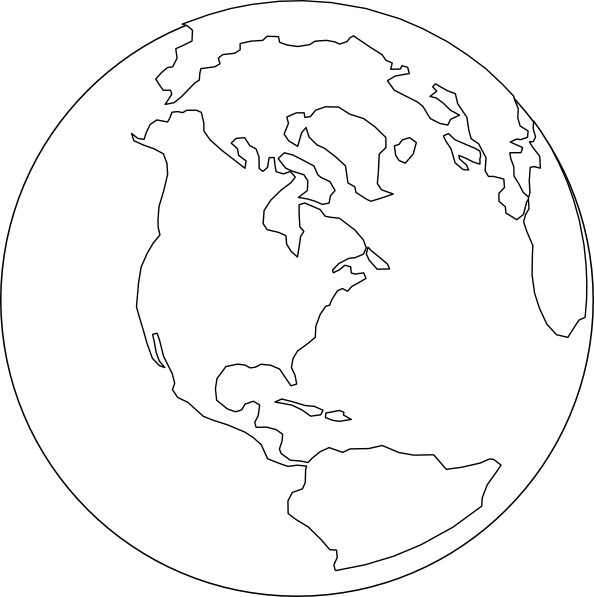 Line Art Earth : White world clip art at clker vector online