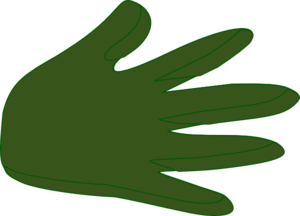 Right Hand Dark Green Clip Art