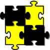 Puzzle Pieces Connected X4 Clip Art