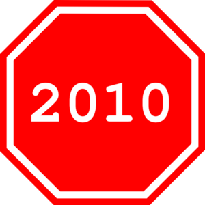 2010 Sign Clip Art