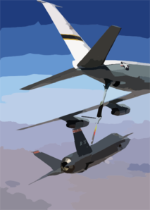 Air Force Kc-135 Refuels A Joint Strike Fighter Clip Art