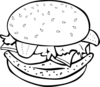 Hamburger Chicken Big Bw Clip Art