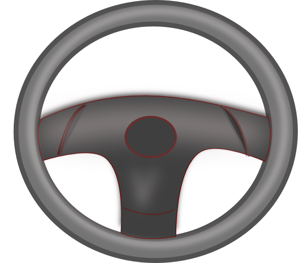 Steering Wheel Black Clip Art at Clker.com - vector clip ...
