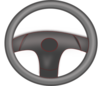 Steering Wheel Black Clip Art