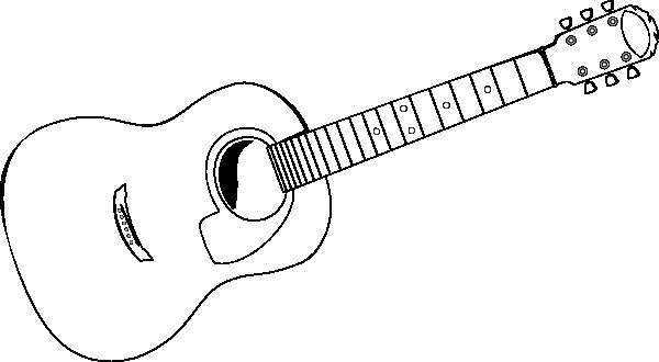 Guitar Stencil 2 Clip Art At Clkercom Vector