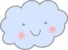 Cute Cloud Clip Art