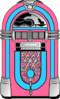 Pink And Blue Jukebox Clip Art