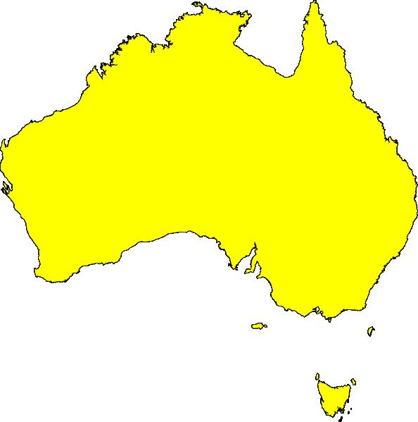 australia map yellow clip art at clker com vector clip australia clip art images australian clip art