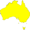 Australia Map Yellow Clip Art