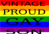 Vintage  Proud  Gay  Son Clip Art