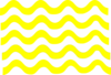 Yellow Wave Lines Clip Art