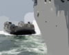 Landing Craft Air Cushion (lcac) Eight Three Assigned To Assault Craft Unit Four (acu-4) Makes Its Approach. Clip Art