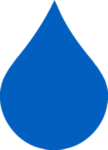 Blue Raindrop Clip Art at Clker.com - vector clip art online, royalty ...