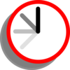 Ticking Clock Frame 7 Clip Art