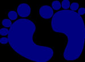 Baby Feet Navy Clip Art at Clker.com - vector clip art online, royalty ...