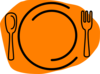 Orange Plate Clip Art